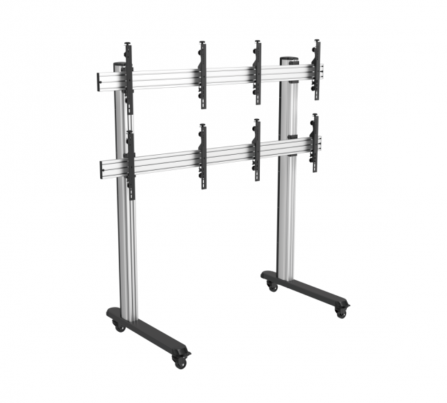 """SOPORTE MOVIL PARA VIDEO WALL 2 X 2 45""""-55"""". COD: SOLIDVIEW SP-211-LM"""
