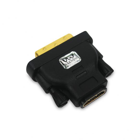 CONECTOR HDMI HEMBRA A DVI-D MACHO. COD: SOLIDVIEW PS-467