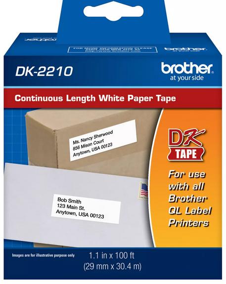 ETIQUETAS BROTHER DK-2210 29MM X 30.4M COD:16101