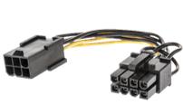 ADAPTADOR DE CORRIENTE PCIE 1X6 PINES F A 1X8 PINES M