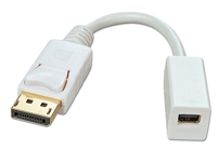 CABLE ADAPTADOR DISPLAYPORT MACHO A MINI DISPLAYPORT HEMBRA